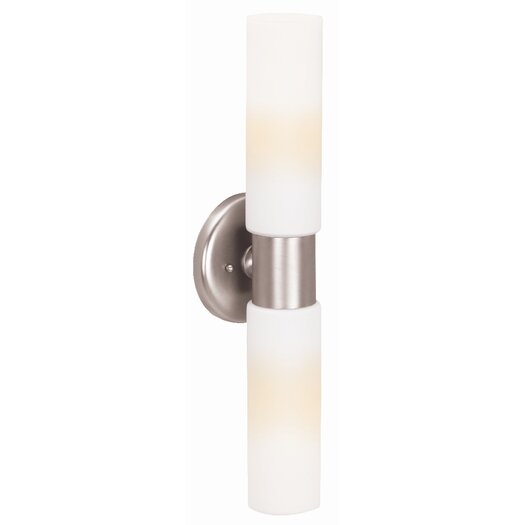 Access Lighting Aqueous 2 Light Wall Sconce with Opal Glass