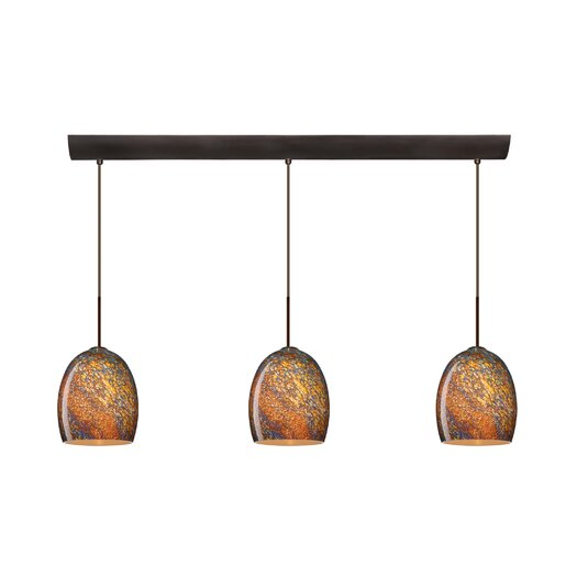Besa Lighting Lucia 3 Light Pendant with Bar Canopy