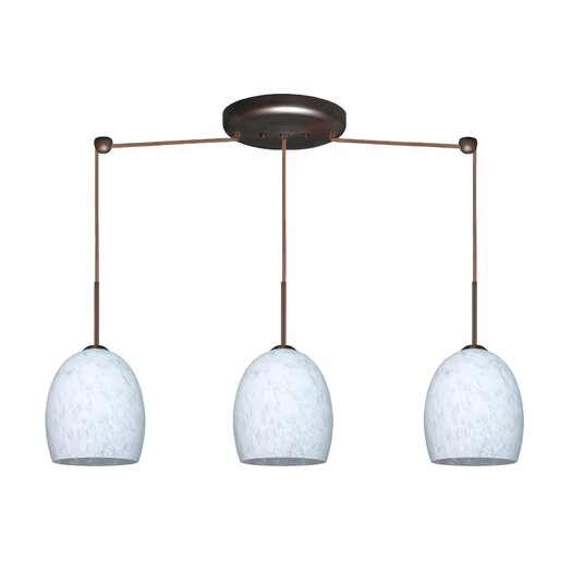 Besa Lighting Lucia 3 Light Linear Pendant