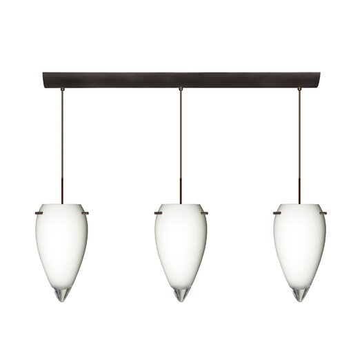 Besa Lighting Juli 3 Light Pendant with Bar Canopy