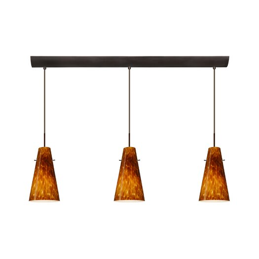 Besa Lighting Cierro 3 Light Pendant with Bar Canopy