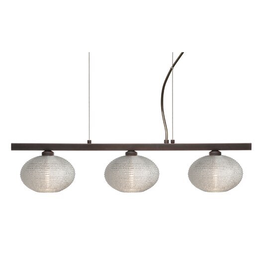 Besa Lighting Lasso 3 Light Kitchen Island Pendant