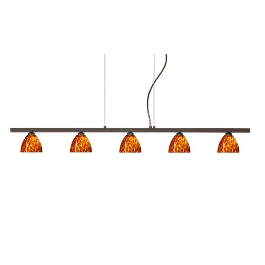Besa Lighting Divi 5 Light Kitchen Island Pendant