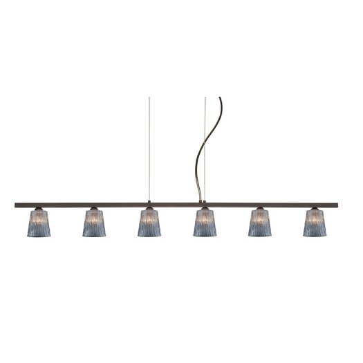 Besa Lighting Nico 6 Light Linear Pendant