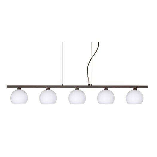 Besa Lighting Palla 5 Light Linear Pendant