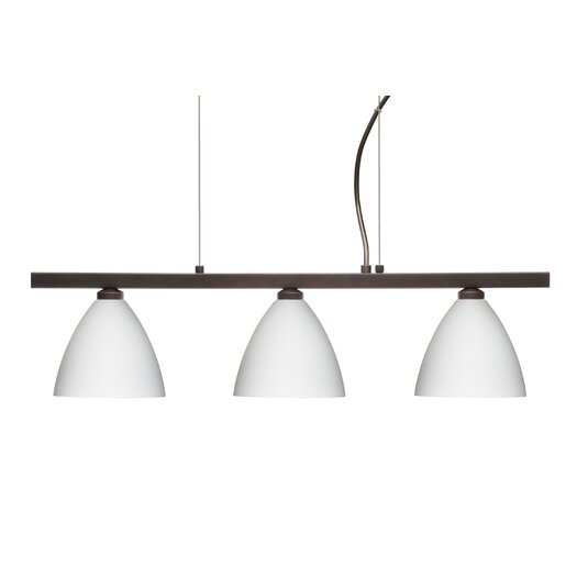 Besa Lighting Mia 3 Light Cable Hung Linear Pendant