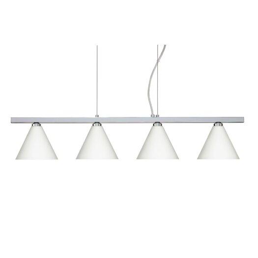 Besa Lighting Kani 4 Light Cable Hung Linear Pendant