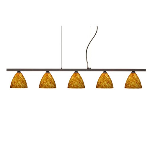 Besa Lighting Mia 5 Light Cable Hung Linear Pendant