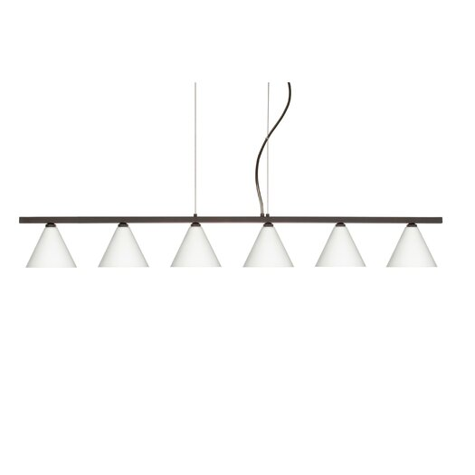 Besa Lighting Kani 6 Light Cable Hung Linear Pendant