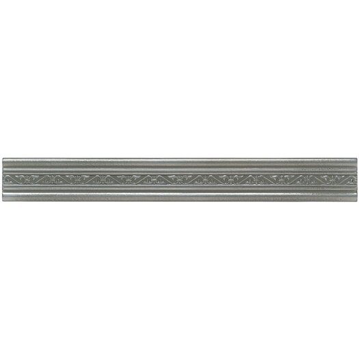 "Mohawk Flooring Artistic Accent Statements Metal 12"" x 1-1/2"" Laurel Accent Strip in Vintage Pewter"