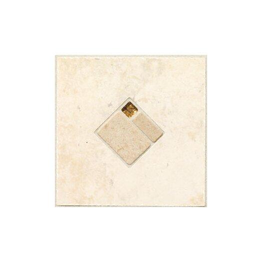 "Mohawk Flooring Natural Bucaro 6-1/2"" x 6-1/2"" Decorative Wall Insert in Bianco"