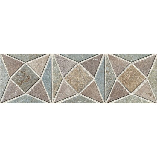 "Mohawk Flooring Slate Quarry Stone 12"" x 4"" Dark Decorative Border"