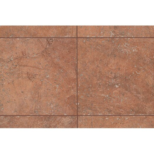 "Mohawk Flooring Rustic Egyptian Stone 6.5"" x 2"" Counter Rail Tile Trim in Luxor Red"