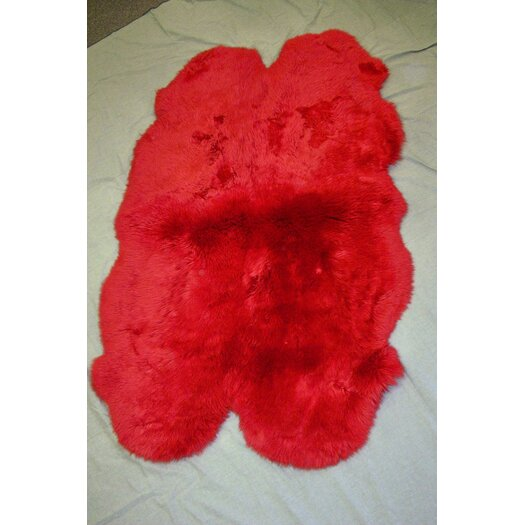 Bowron Sheepskin Rugs Crackalackin' Kidz Wildfire Gold Star Red Outdoor Area Rug