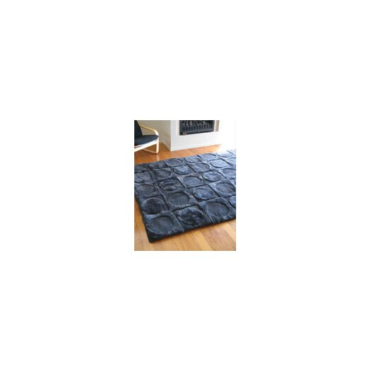 Bowron Sheepskin Rugs Shortwool Design Lunar Ink Blue Area Rug