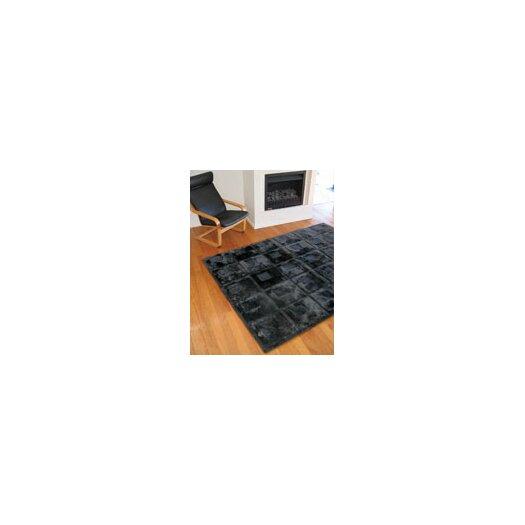 Bowron Sheepskin Rugs Shortwool Design Orbit Black Area Rug
