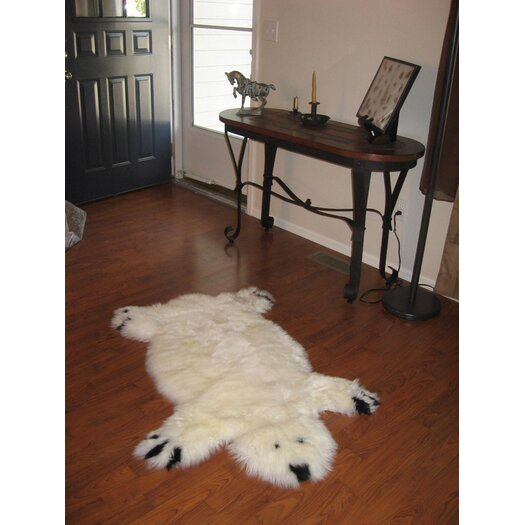 Bowron Sheepskin Rugs Designer Bear Animal Ivory Area Rug