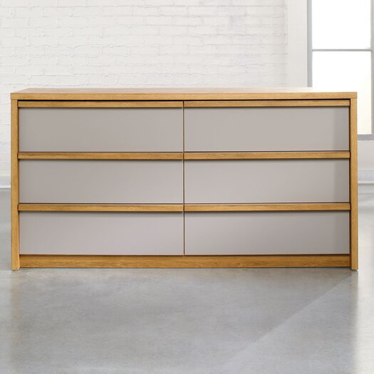 Sauder Soft Modern 6 Drawer Chest