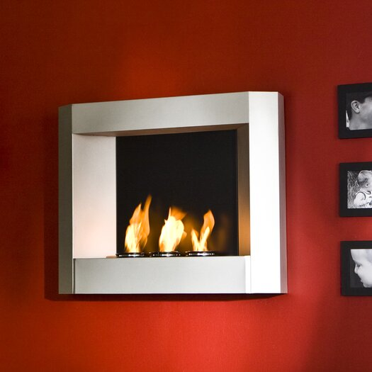 Wildon Home ® Sevilla Wall Mounted Gel Fuel Fireplace