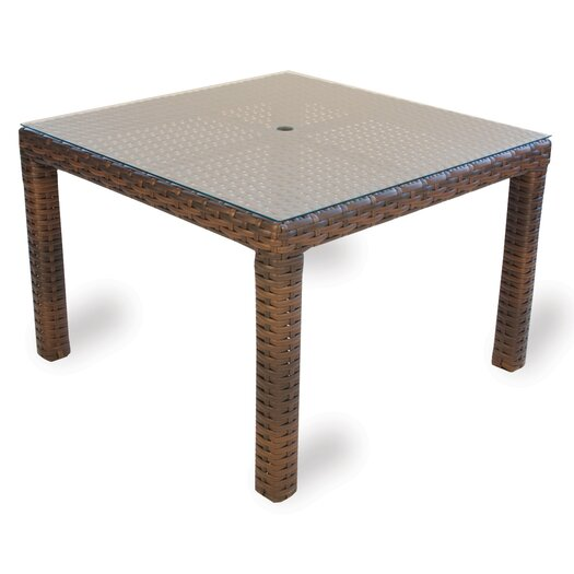 Lloyd Flanders Contempo Square Umbrella Dining Table