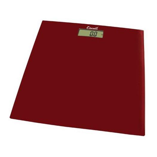 Escali Rio Red Square Glass Platform Bathroom Scale