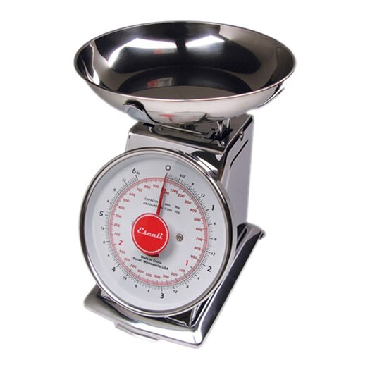 Escali Mercado 2lbs Dial Scale with Bowl