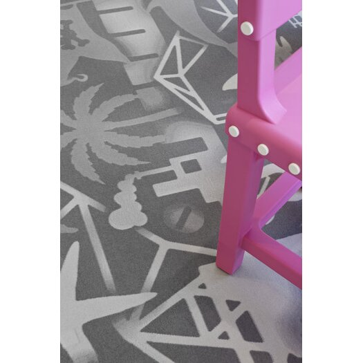 Moooi Carpet Firmship White/Grey Area Rug