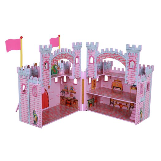 Teamson Kids Hand Carry Castle Girls with Figurines