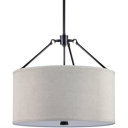 Sea Gull Lighting Brayden 3 Light Shade Pendant