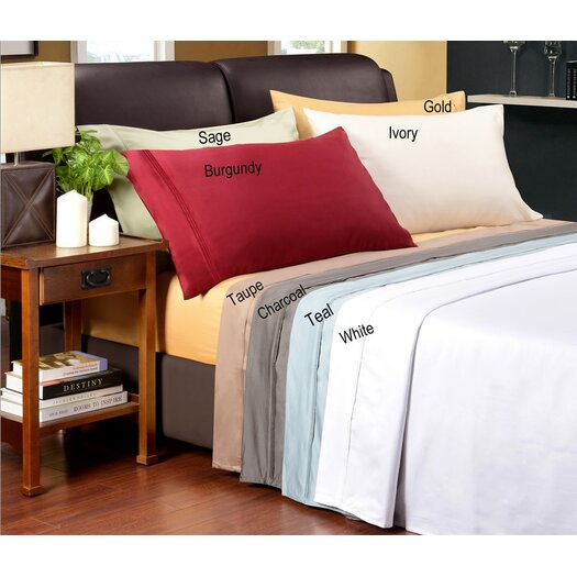 Simple Luxury 1200 Thread Count Egyptian Cotton Solid Sheet Set