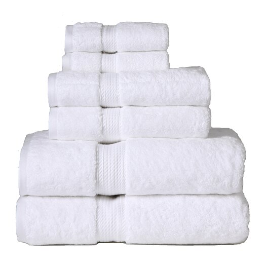 Simple Luxury Superior 900GSM Egyptian Cotton 6 Piece Towel Set