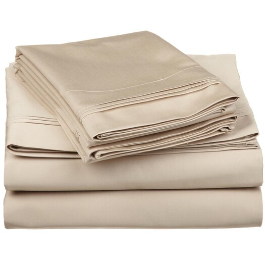 Simple Luxury 650 Thread Count Egyptian Cotton Solid Olympic Queen Sheet Set