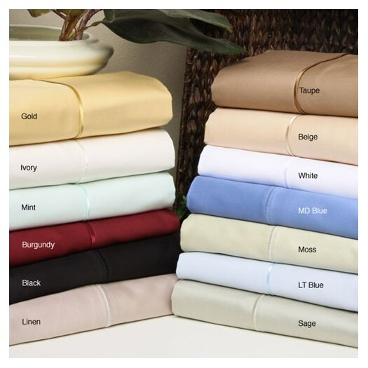 Simple Luxury 650TC Egyptian Cotton Solid Sheet Set