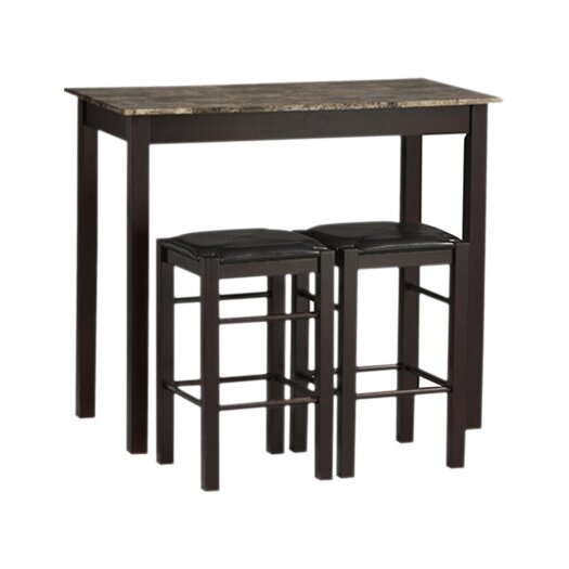 Linon Tavern 3 Piece Counter Height Dining Set