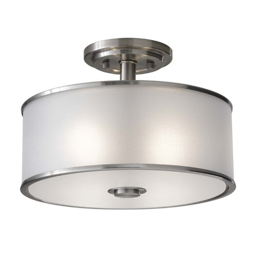Feiss Casual 2 Light Semi Flush Mount