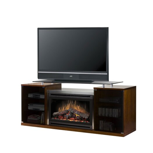 """Dimplex Marana 76"""" TV Stand with Electric Fireplace"""