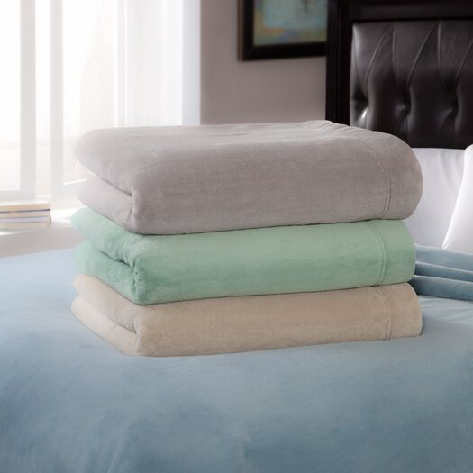 Serta Luxe Plush Micro Fleece Electric Throw