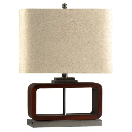 "StyleCraft Contemporary 21.25"" H Table Lamp with Rectangular Shade"