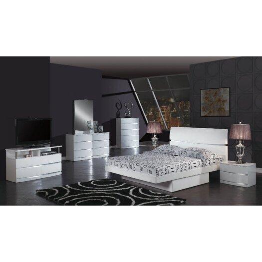 Global Furniture USA Aurora 2 Drawer Nightstand