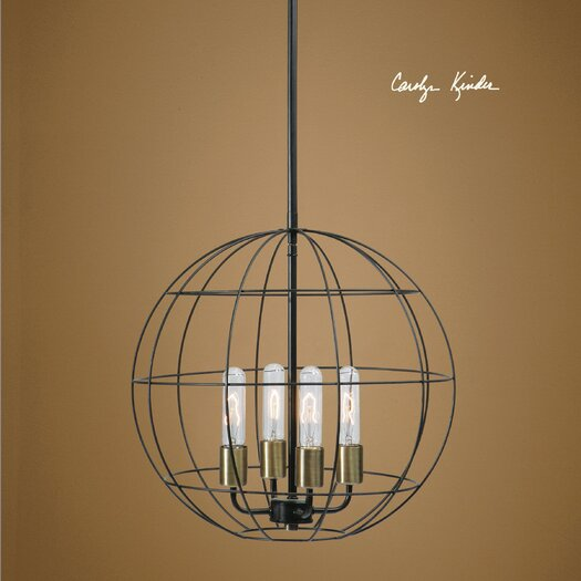 Uttermost Peri 4 Light Globe Pendant