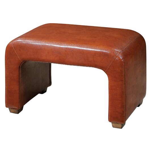 Uttermost Pennie Leather Bench