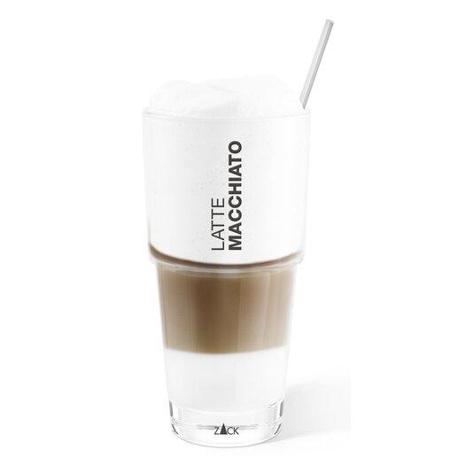 ZACK Ceto Latte Macchiato Glass and Spoon