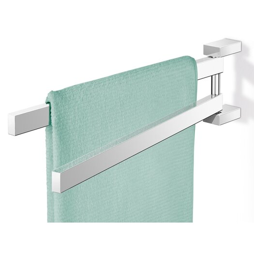 "ZACK Linea 17.52"" Wall Mounted Swivelling Towel bar"