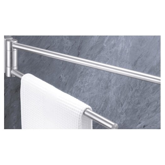 "ZACK Bathroom Accessories 18.1"" Wall Mounted Fresco Towel Bar"