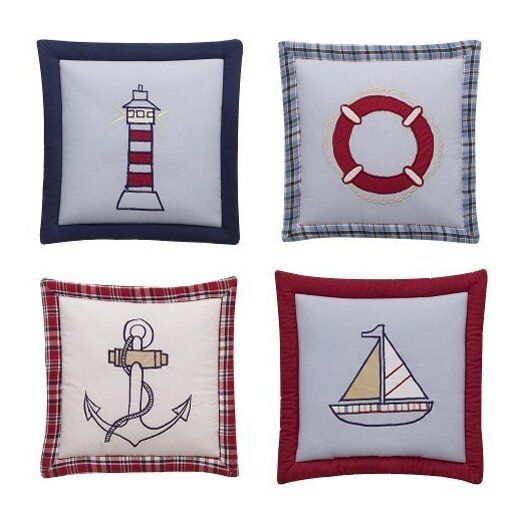 Bacati 4 Piece Boys Stripes and Plaids Hanging Art Set