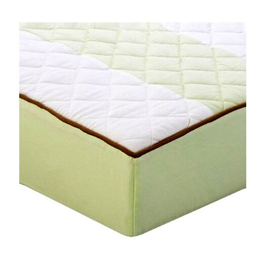 Bacati Metro Quilted Changing Pad Cover in Lime and Chocolate