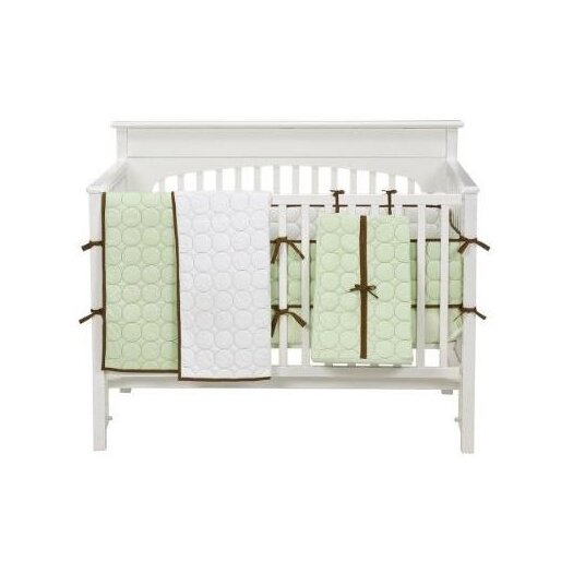 Bacati Quilted Circles 4 Piece Crib Bedding Set