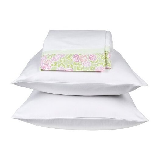 Bacati Flower Basket Standard Pillowcase