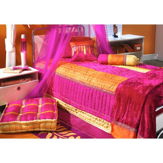 Bacati Tangerine Bed Canopy