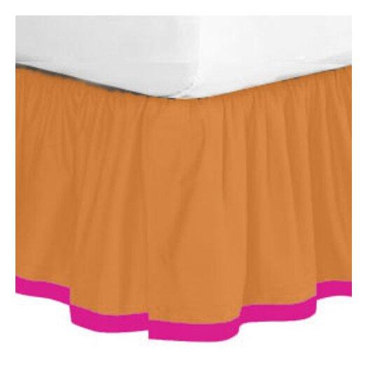 Bacati Tangerine Bed Skirt